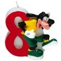 PROCOS Geburtstagskerze Nr. 8, Disney Mickey Party Favours, 1 Stück