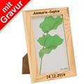 Glorex Bilderrahmen mit Glas MIT GRAVUR (z.B. Namen)  passend für Fotos im Format 10x15cm aus Holz Kiefer unbehandelt