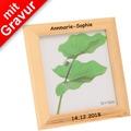 Glorex Bilderrahmen quadratisch mit Glas MIT GRAVUR (z.B. Namen) passend für Fotos im Format 12x12cm aus Holz Kiefer unbehandelt