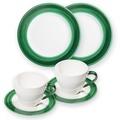 Gmundner Variation Grün, Frühstücksset für 2 Personen