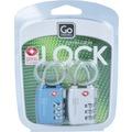 Go Travel Combi Cable Lock Kofferschloss TSA Set 2tlg. 5 cm metall