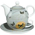 Goebel Artis Orbis Joanna Charlotte Grey Butterflies - Tea for One
