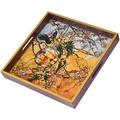 Goebel Artis Orbis Louis Comfort Tiffany Sittiche - Tablett