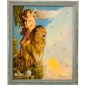 Goebel Artis Orbis Michael Parkes Lions Return - Wandbild