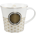 Goebel Coffee-/Tea Mug Blume des Lebens weiß 9,5 cm