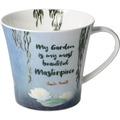 """Goebel Coffee-/Tea Mug Claude Monet - """"My Garden is..."""" 9,5 cm"""