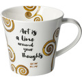 "Goebel Coffee-/Tea Mug Gustav Klimt - ""Art is a line..."" 9,5 cm"