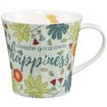 """Goebel Coffee-/Tea Mug Elephant - """"Happiness"""" 9,5 cm"""