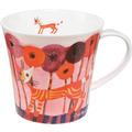 "Goebel Coffee-/Tea Mug Rosina Wachtmeister - ""Fiori rossi"" 9,5 cm"