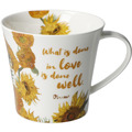 "Goebel Coffee-/Tea Mug Vincent v. Gogh - ""What is done..."" 9,5 cm"