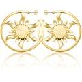 Goebel Couture Kingdom Rapunzel Sonne - Ohrringe Gold