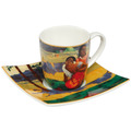 "Goebel Espressotasse Paul Gauguin - ""Wann heiratest Du?"" 6,5 cm"