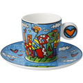 "Goebel Espressotasse Romero Britto - ""Happy"" 7,0 cm"
