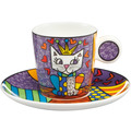 "Goebel Espressotasse Romero Britto - ""Her Royal Highness"" 7,0 cm"