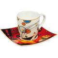 "Goebel Espressotasse Wassily Kandinsky - ""Schweres Rot"" 6,5 cm"