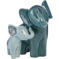 """Goebel Figur Elephant - """"Boromoko & Bada"""" 19,5 cm"""