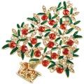 Goebel Fitz and Floyd Fitz & Floyd Christmas Collection Brosche - Baum Gold-Grün