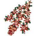 Goebel Fitz and Floyd Fitz & Floyd Christmas Collection Brosche - Baum Rot-Grün
