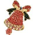 Goebel Fitz and Floyd Fitz & Floyd Christmas Collection Brosche - Glocke Rot