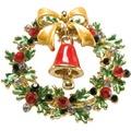 Goebel Fitz and Floyd Fitz & Floyd Christmas Collection Brosche - Kranz mit Glocke