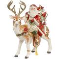 Fitz & Floyd Fitz&Floyd Figur Santa auf Hirsch 33 x 41,5 cm