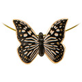 "Goebel Halskette Joanna Charlotte - ""Butterfly Black-White"" 3,5 cm"