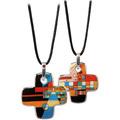"Goebel Halskette Wassily Kandinsky - ""Spitzen im Ellenbogen"" 4 x 4 cm"