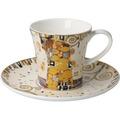 """Goebel Kaffeetasse Gustav Klimt - """"Die Erfüllung"""" 8,5 cm"""