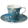 "Goebel Kaffeetasse Vincent v. Gogh - ""Mandelbaum blau"" 8,5 cm"