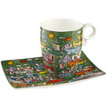 "Goebel Künstlertasse James Rizzi - ""Crosstown Traffic"" 12,0 cm"