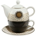 Goebel Lotus Yin Yang Yin Yang Schwarz - Tea for One