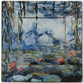 """Goebel Schale Claude Monet - """"Seerosen mit Weide"""" 16x16x2 cm"""