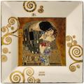 """Goebel Schale Gustav Klimt - """"Der Kuss"""" 12x12x1,5 cm"""