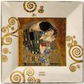 """Goebel Schale Gustav Klimt - """"Der Kuss"""" 16x16x2 cm"""