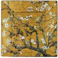 "Goebel Schale Vincent van Gogh - ""Mandelbaum Gold"" 16x16x2 cm"