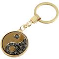 """Goebel Schlüsselanhänger Lotus - """"Yin Yang"""" 9,0 x 3,0 cm"""