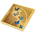 """Goebel Tablett Joanna Charlotte - """"Blue Butterflies"""" 37 x 37 cm"""