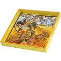 "Goebel Tablett Louis Comfort Tiffany - ""Sittiche"" 37 x 37 cm"