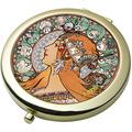 """Goebel Taschenspiegel Alphonse Mucha - """"Sternzeichen"""" 7,5 cm"""
