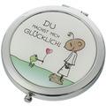 """Goebel Taschenspiegel Der kleine Yogi - """"Du machst mich glücklich"""" 7,5 cm"""