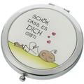 """Goebel Taschenspiegel Der kleine Yogi - """"Schön, dass es Dich gibt"""" 7,5 cm"""