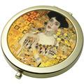 """Goebel Taschenspiegel Gustav Klimt - """"Adele Bloch-Bauer"""" 7,5 cm"""