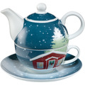 Goebel Tea for One Christmas at Home 15,0 cm