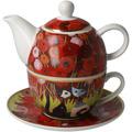 "Goebel Tea for One Rosina Wachtmeister - ""Innamorati tra i papaveri"" 15,5 cm"