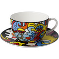 """Goebel Tee-/ Cappuccinotasse Billy the Artist - """"Together"""" 8,5 cm"""