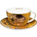 """Goebel Tee-/ Cappuccinotasse Gustav Klimt - """"Der Kuss"""" 6,5 cm"""