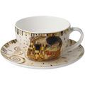"""Goebel Tee-/ Cappuccinotasse Gustav Klimt - """"Der Kuss"""" 7,0 cm"""