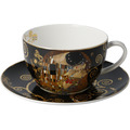 """Goebel Tee-/ Cappuccinotasse Gustav Klimt - """"Der Kuss"""" 8,5 cm"""