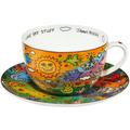 "Goebel Tee-/ Cappuccinotasse James Rizzi - ""I Love Sky Stuff"" 8,5 cm"