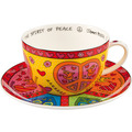 "Goebel Tee-/ Cappuccinotasse James Rizzi - ""The Spirit of Peace"" 8,5 cm"